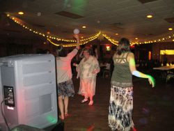"""Aunts & friends """"cutting the rug"""" at a fun reception"""