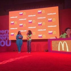 Chrisette Michele and Demetria McKinney at Essence Festival - McDonald's Booth