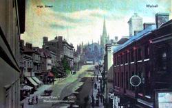 Walsall High Street. c1900s.