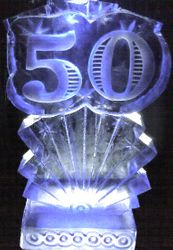 50TH ANNIVERSARY- BIRTHDAY ICE SCULPTURE