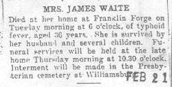 Waite, Mrs. James
