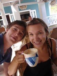 Becky and Jono at Marigot Bay