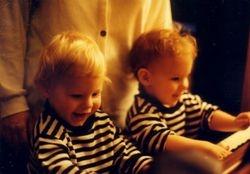 Jake and Ben at a piano