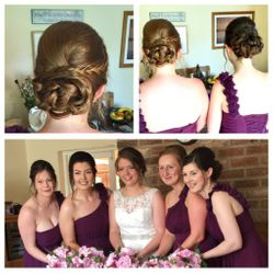 Elegant Updo and Airbrush Makeup