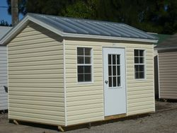 8x16 with colonial door and windows
