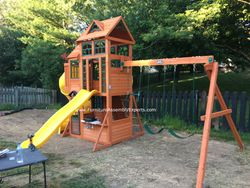 Cedar summit canyon ridge swing set assembly in alexandria VA