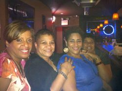 The Ladies looking lovely at Carmen & Patty's Birthday Celebration (502 Bar Lounge's Social Saturday Karaoke Night)!