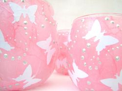 Pale Pink and White Butterflies
