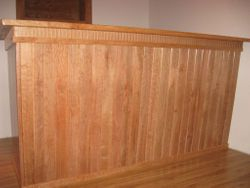 Custom cherry wood bar