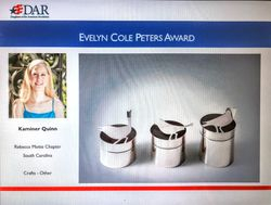 Evelyn Cole Peters Award Winner