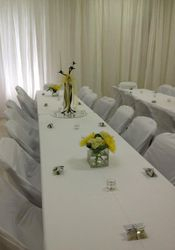 Curtain Wall & Table Setting