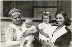 Gladys Copp Brink with Daughter Ermil and Grandchildren
