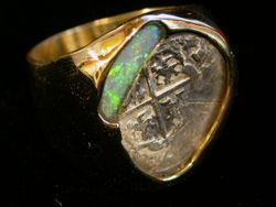 Coin and Opal Ring