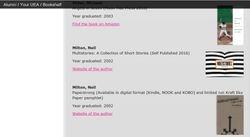 UEA Alumni Bookshelf 2016