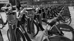 A row of 'Boris bikes'