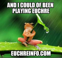 And I could of been playing Euchre.