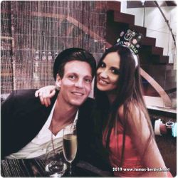 Tomas Berdych and his wife Ester