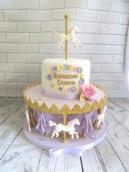 Horse Carousel Birthday Cake