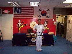 Felix D Nodarse III  black belt class of 2011