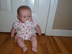 Soft Bodied Baby Doll with Pacifier - $10