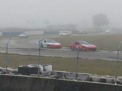 racing in the rain!