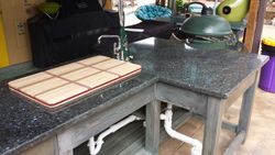 distressed fish cleaning table