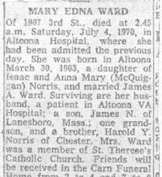 Ward, Mary Norris 1970