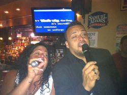 "Yvette & David G. getting ""Unforgettable"" at Carmen & Patty's Birthday Celebration (502 Bar Lounge's Social Saturday Karaoke Night)!"