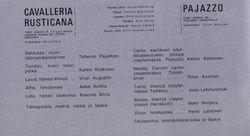 Cavalleria ja Pajazzo miehitykset 1971