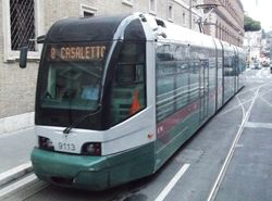 Fiat I tram #9113, photographed 11/09/13