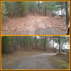Fall Cleanup Long Driveway