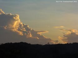 Near the beginning of the sunset
