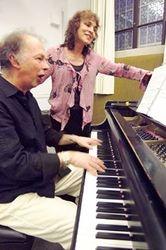 Jocelyne and I rehearsing