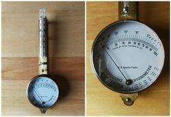 Prieskarinis Spaudos fondo higrometras/termometras. Kaina 157