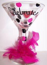 Bachelorette-tini glass