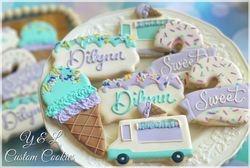 Ice Cream Theme Decorated Cookies 2 sweet