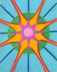 All That Is - Spirit Mandala, Oil Pastel, 11x14, Original Sold