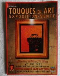 Affiche de l'exposition Touques Aout 2020
