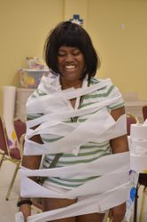 Melanie really got wrapped up with VBS!