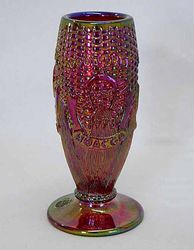 1978 HOACGA Good Luck Corn vase, red