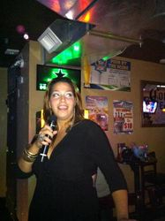 Soan bringing it to the crowd at 502 Bar Lounge's Social Saturday Night Karaoke.