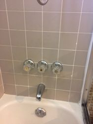 Replaced shower fixtures
