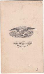 Knight's Gallery, photographer of Batavia, NY - back