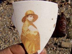 cool cup shard.  The Morton's salt boy?
