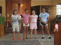 Pre-teen Girls in Holy Family Chapel