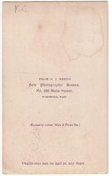 H. J. Reed, photographer of Worcester, MA - back