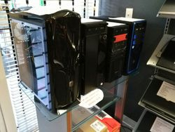 Custom built computer towers in stock.
