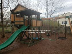 Backyard Discovery Eagle's Nest Elite Playset installation in alexandria VA