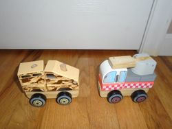 J'Adore Nature Wood Toys Fire Truck & Fire Truck Stackable Building - $20
