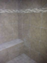 master shower with bench